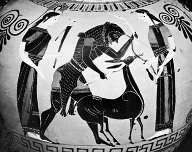 Detail of a Greek vase painting, c. 540 BC